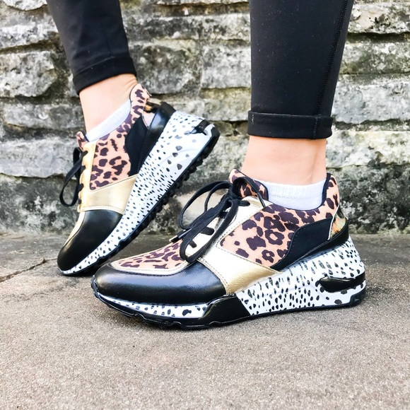c97cc18a4de RARE Steve Madden Cliff Animal Sneakers : Leopard NWT